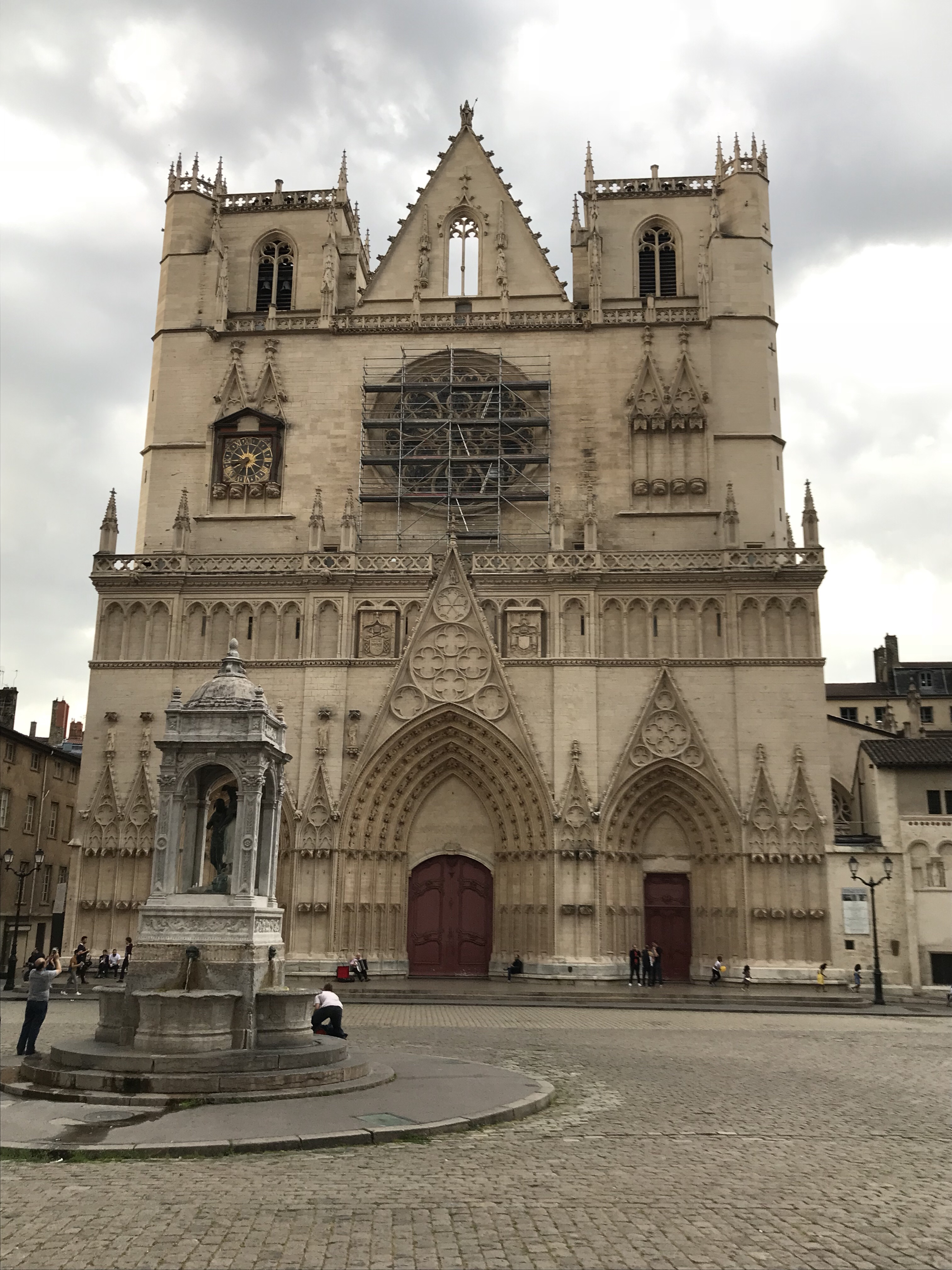 West front of Lyon Cathedral